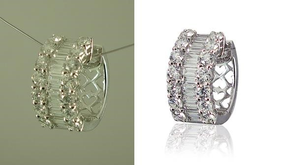 Jewelry Background removal service
