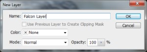 You'll get a quick asking you to give the layer a name. Call it anything you want.
